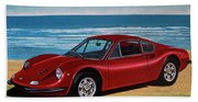 Ferrari Dino 246 Gt 1969 Painting Beach Towel