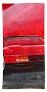 Ferrari Testarrossa Beach Towel