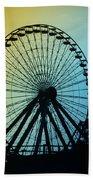 Ferris Wheel - Wildwood New Jersey Beach Towel