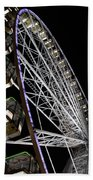 Ferris Wheel At Night 16x20 Beach Towel