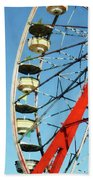 Ferris Wheel Closeup Beach Towel