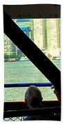 Ferry Across The Harbor Beach Towel