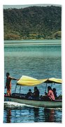 Ferry - Lago De Coatepeque - El Salvador I Beach Sheet