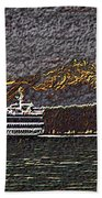 Ferry On Elliott Bay 3 Beach Towel