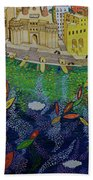 Ferry To The City Of Gold II Beach Towel