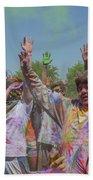 Festival Of Color Beach Sheet
