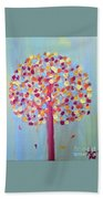 Festive Tree Beach Towel