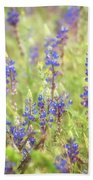 Field Of Blue Lupines  Beach Towel