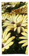 Field Of Daisies Landscape Floral Art Prints Daisy Baslee Troutman Beach Towel