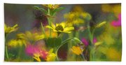 Field Of Flowers Paint Beach Towel