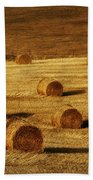 Field Of Gold #1 Beach Towel