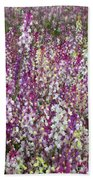 Field Of Multi-colored Flowers Beach Towel