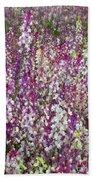 Field Of Multi-colored Flowers Beach Sheet