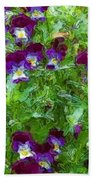 Field Of Pansy's Beach Towel