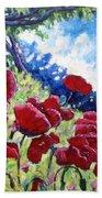 Field Of Poppies 02 Beach Sheet