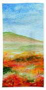 Field Of Poppies Beach Towel