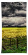 Field Of Yellow Flowers Beach Towel