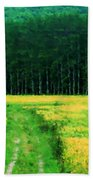 Field Of Yellow Beach Towel