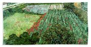 Field With Poppies Beach Towel