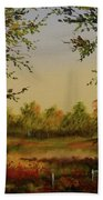 Fields And Trees Beach Towel