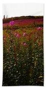 Fields In Pink Beach Towel