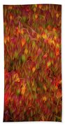 Fields On Fire Beach Towel
