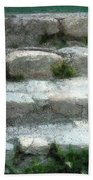 Fieldstone Stairs New England Beach Towel