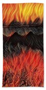 A Hot Valley Of Flames Beach Towel