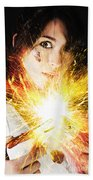 Fiery Jump Start Beach Towel