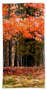 Fiery Leaves Beach Towel