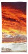 Fiery Sky Beach Towel