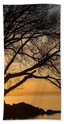 Fiery Sunrise - Like A Golden Portal To Another World Beach Towel