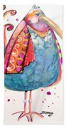 Fiesta Bird Beach Towel