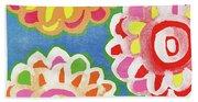 Fiesta Floral 3- Art By Linda Woods Beach Sheet
