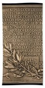 Fiftieth Anniversary Of The Christofle Company, 1842-1892 [reverse] Beach Towel