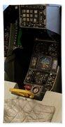 Fighter Jet Cockpit 01 Beach Towel