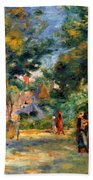 Figures In A Garden Beach Towel