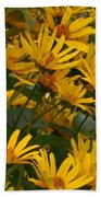 Filled With Sunflowers Horizontal Beach Towel