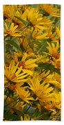 Filled With Sunflowers Vertical Beach Towel