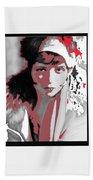 Film Homage Collage Eugene Robert Richee Photo Clara Bow 1 Circa 1927-2013 Beach Towel
