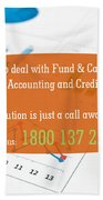 Financial Accounting Software Beach Towel