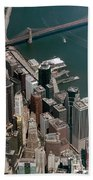 Financial District Nyc Aerial Photo Beach Towel