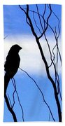 Finch Silhouette 1 Beach Towel