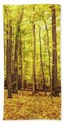 Fine Wine Cafe Golden Woods Beach Towel