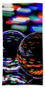 Finger Light Painted Glass Ball Abstract Beach Towel