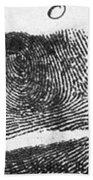 Fingerprints Of Vincenzo Peruggia, Mona Beach Towel