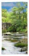 Fingle Bridge - P4a16007 Beach Towel