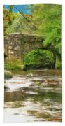 Fingle Bridge - P4a16013 Beach Towel