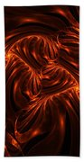 Fire Abstraction Beach Towel