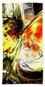 Fire And Desire Abstract Beach Towel